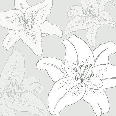 Lilies Digital Art -  Juliette by Sarah Hough