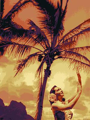 Landscape Digital Art -  Kauluwela Hula 11 by Kenneth Grzesik