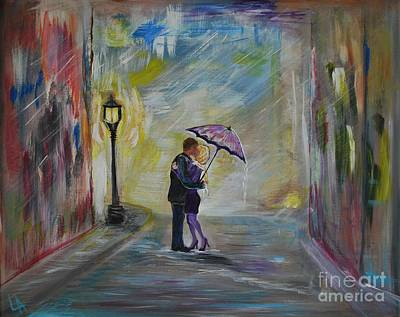 Goodbye Painting -  Kiss Me Taxi Is Here by Leslie Allen
