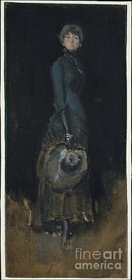 Whistler Painting -  Lady In Gray by James McNeill