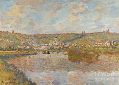 Vetheuil Painting -  Late Afternoon Vetheuil by Celestial Images