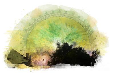 London Eye Painting -  London - London Eye by Justyna JBJart