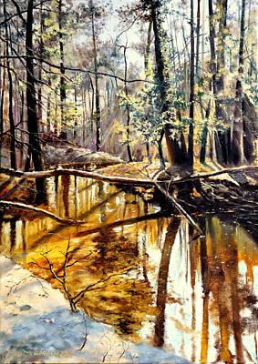 Lubianka-2-river Print by Henryk Gorecki