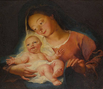 Madonna And Child Print by Antoine Coypel