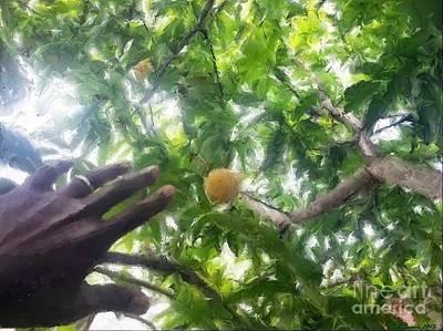 Mango Digital Art -  Mango Time 4 by Carl Gouveia