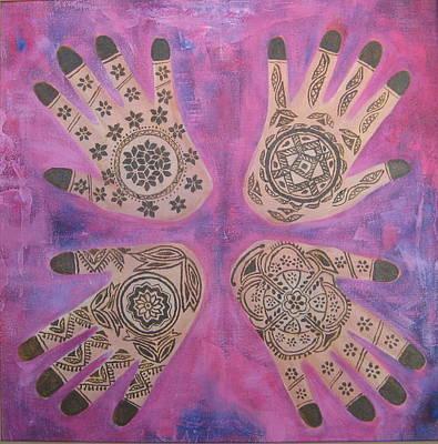 Painting -   Maos De Renna by Shanta Rathie