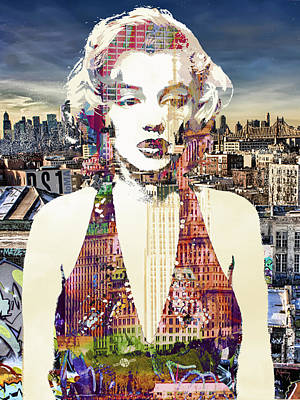 Marilyn Monroe Vulnerable In New York City 1 Original by Tony Rubino