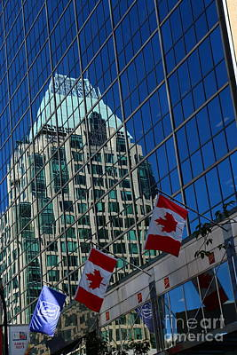 Modern Architecture - City Reflection Vancouver  Print by Christiane Schulze Art And Photography