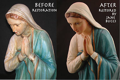 Bucci Mixed Media -  Mother Mary Restored by Jane Bucci