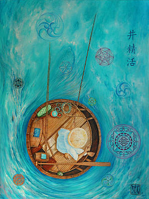 Tantra Painting -  Mystic Fisherman by Imago  Dei