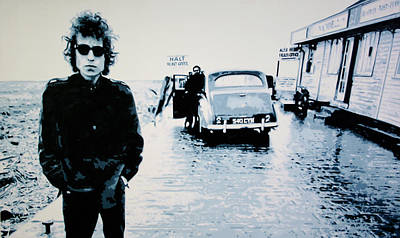 Bob Dylan Painting - - No Direction Home - by Luis Ludzska