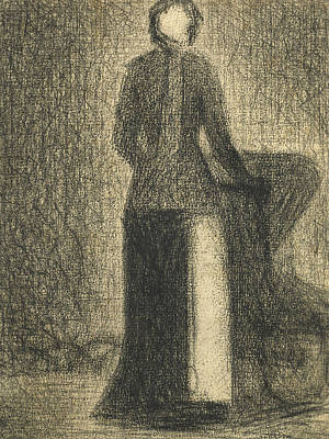 Crayons Drawing -  Nurse With A Childs Carriage  by Georges-Pierre Seurat