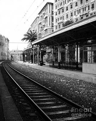 Train Tracks Photograph -  Old World Charm by Ivy Ho