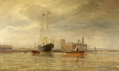 Inaugural Painting -  Opening Of The Royal Edward Dock, Avonmouth by Arthur Wilde Parsons