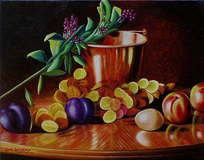Plumb Painting -  Pail Of Plenty by Gene Gregory