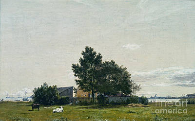 Lime Drawing -  Party Near The Lime Kiln With Views Towards The Copenhagen  by Celestial Images