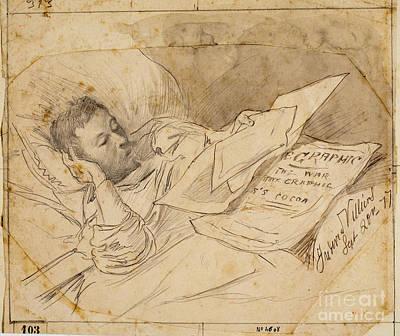 Portrait Correspondent Juderic Villiers Print by Josep LluIs