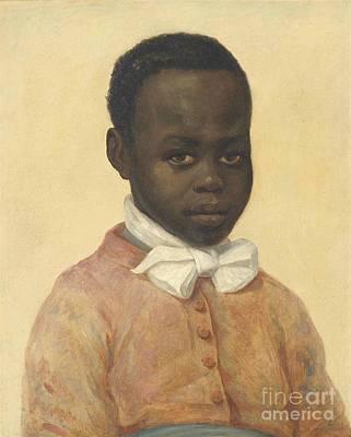 Unhappy Painting -  Portrait Of A Boy by Antoine Joseph Wiertz