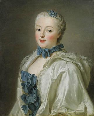 Portrait Of Francoise-marguerite De Sevigne  Print by Alexander Roslin