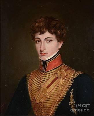Raja Painting -  Portrait Of Lieutenant Jasper Trower by Jivan Ram