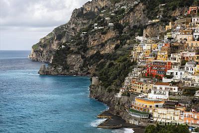 Rugged Coastline Photograph -  Positano Coastline Campania Italy  by George Oze