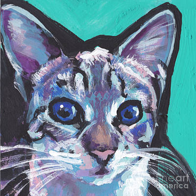 Kids Painting -  Pritty Kitty  by Lea S