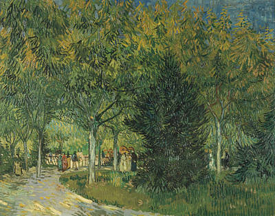 Promenaders Print by Vincent van Gogh