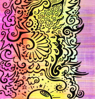 Sharpie Drawing -  Rainbow Atmosphere by Mandy Shupp