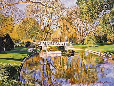 Reflections Of The White Bridge Print by David Lloyd Glover