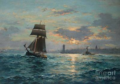 Northumberland Painting -  Sail And Steam  by Frank Watson