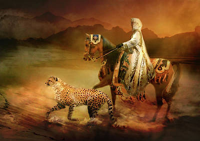 Cheetah Digital Art -  Shifting Sands by Trudi Simmonds