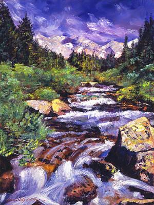 Sierra River Print by David Lloyd Glover