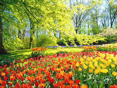 Wall Art Painting -  Spring Garden by Veikko Suikkanen