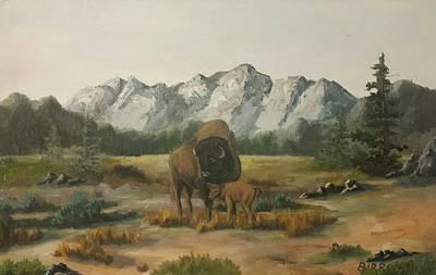 Roaming Elk Painting -  Still Free by Baltazar Barron Jr