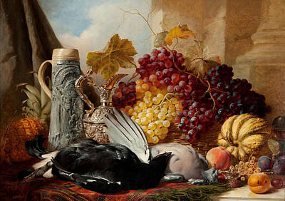 Still Life Of Game Print by William Duffield
