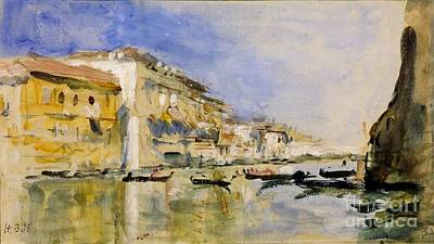 Venice Ca Painting -  The Grand Canal by Hercules Brabazon