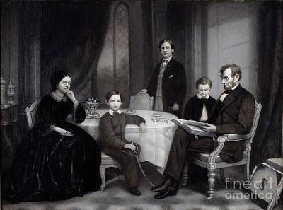 Carpenter Painting -  The Lincoln Family by Celestial Images