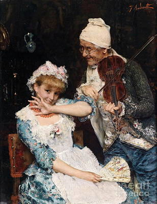 Musician Painting -  The Musician by Celestial Images