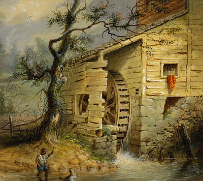Ranch Painting -  The Old Mill by Celestial Images