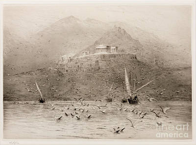 The Poseidon Temple Print by William Lionel Wyllie
