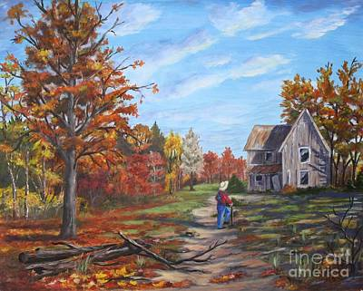 Haunted House Painting -  The Visitor by Marlene Kinser Bell