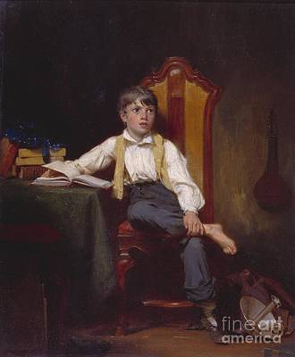 Title Study Of A Boy Print by Thomas Sword