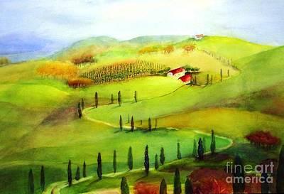 Maryann Painting -  Tuscany by Maryann Schigur