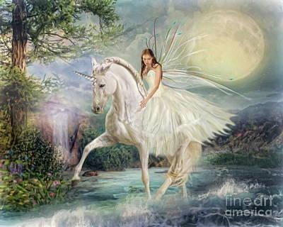 Unicorn Mixed Media -  Unicorn Magic by Trudi Simmonds