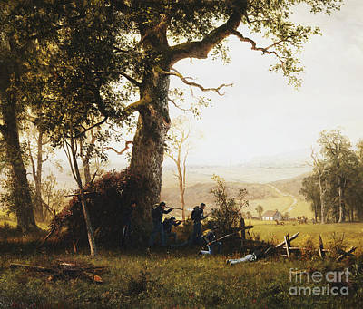 Soldier Painting -  Union Soldiers Fighting In The Field by Celestial Images
