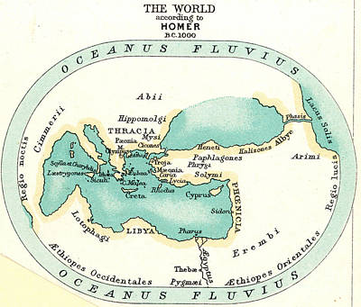 World Map, C1000 B.c Print by Granger