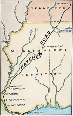 Nashville Painting - Natchez Trace, 1816 by Granger
