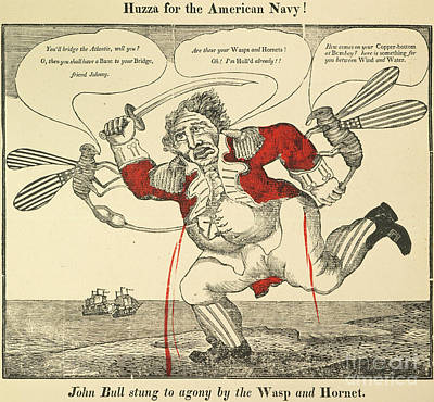 U.s. Navy Painting - War Of 1812: Cartoon, 1813 by Granger