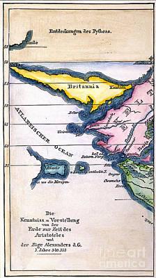 Atlantis: Map, 1831 Print by Granger