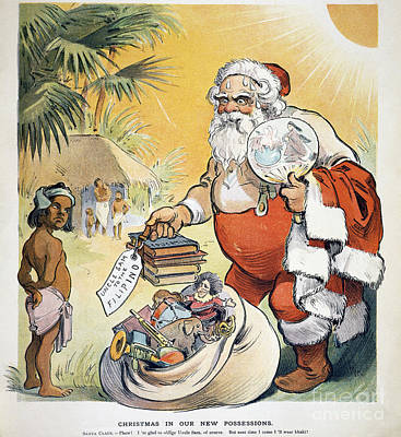 Santa Claus Painting - Philippine Cartoon, 1902 by Granger